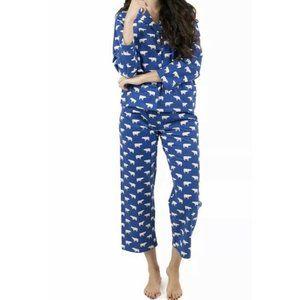 NWT Leveret Blue Polar Bear Flannel pajamas 2 PC